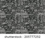 doodle internet web seamless... | Shutterstock .eps vector #205777252