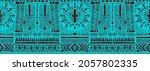 ikat geometric folklore... | Shutterstock .eps vector #2057802335