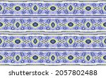 ikat geometric folklore... | Shutterstock .eps vector #2057802488