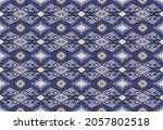 ikat geometric folklore... | Shutterstock .eps vector #2057802518