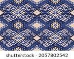 ikat geometric folklore... | Shutterstock .eps vector #2057802542