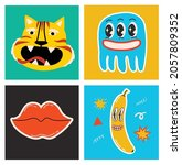 big set of different colored... | Shutterstock .eps vector #2057809352
