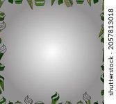 blank white  green and black... | Shutterstock .eps vector #2057813018