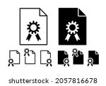 medal vector icon in file set...