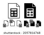 calculator vector icon in file...