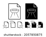 bbq simple line vector icon in...