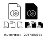 plus sign vector icon in file...