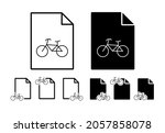 bicycle store sign vector icon...