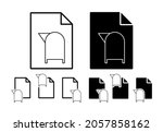 post box sign vector icon in...