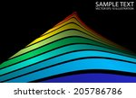 colorful vector abstract peak