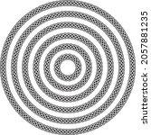 celtic knotwork round circular... | Shutterstock .eps vector #2057881235