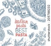 italian pasta template | Shutterstock .eps vector #205788232
