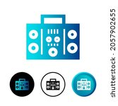 abstract boombox icon...