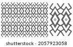 abstract ethnic geometric... | Shutterstock .eps vector #2057923058