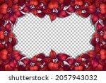 nature plants frame transparent ... | Shutterstock .eps vector #2057943032
