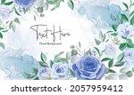elegant floral frame background ... | Shutterstock .eps vector #2057959412