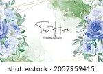 elegant floral frame background ... | Shutterstock .eps vector #2057959415