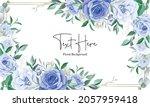 elegant floral frame background ... | Shutterstock .eps vector #2057959418