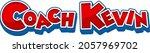 coach kevin logo text design... | Shutterstock .eps vector #2057969702
