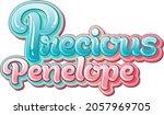 precious penelope logo text... | Shutterstock .eps vector #2057969705