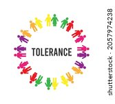 tolerance. colorful human icon. ... | Shutterstock .eps vector #2057974238