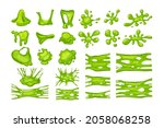 green slime set. collection of... | Shutterstock .eps vector #2058068258