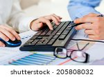 business accounting  | Shutterstock . vector #205808032