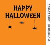 spider set hanging. dash line...   Shutterstock .eps vector #2058124532