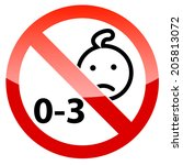 child warning icon sign | Shutterstock . vector #205813072