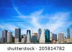 downtown  lower  manhattan's... | Shutterstock . vector #205814782