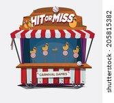 carnival game. duck shoot   ... | Shutterstock .eps vector #205815382