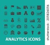 analytics  infographics ... | Shutterstock .eps vector #205826056