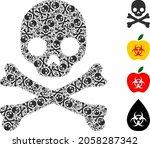 vector death skull fractal is... | Shutterstock .eps vector #2058287342
