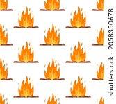 vector illustration of fire...   Shutterstock .eps vector #2058350678