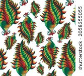Paisley Multicolored Pattern On ...