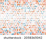 border triangles halftone...   Shutterstock .eps vector #2058365042
