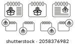 box settings gear vector icon...