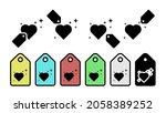 heart flat  stars vector icon...   Shutterstock .eps vector #2058389252