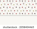 christmas card with copyspace....   Shutterstock .eps vector #2058404465