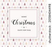 concept of greeting card with...   Shutterstock .eps vector #2058404498