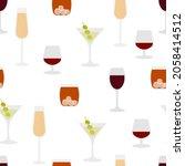 seamless pattern of glasses...   Shutterstock .eps vector #2058414512