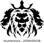 tree lion head logotype of... | Shutterstock .eps vector #2058430538