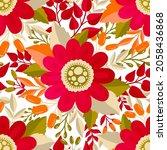 seamless pattern flower.elegant ... | Shutterstock .eps vector #2058436868