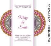 wedding invitation template... | Shutterstock .eps vector #2058442502