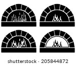 vector black and white clipart... | Shutterstock .eps vector #205844872