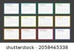 year 2023 calendar vector... | Shutterstock .eps vector #2058465338