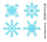 set of vector snowflakes icon... | Shutterstock .eps vector #2058470138