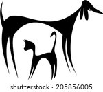 Stock vector abstract cat and dog silhouette abstract cat and dog silhouette vector design 205856005