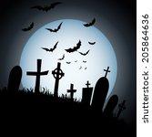 abstract happy halloween... | Shutterstock .eps vector #205864636