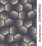 hexagon stippled seamless... | Shutterstock .eps vector #2058698462